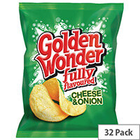 Golden Wonder Cheese and Onion Crisps Pack of 32 121298