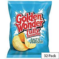 Golden Wonder Salt and Vinegar Crisps Pack 32 121303