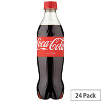 Coca-Cola Original Classic Coke Regular Soft Drinks 500ml Bottle (Pack 24) 100182
