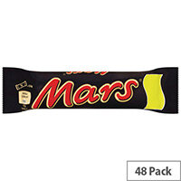 Mars Bars Chocolate Soft Nougat and Caramel Bars Pack 48 100513