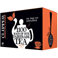 Clipper Fairtrade Blend 1 Cup Teabags Pack of 1100 A07407