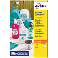 Avery Removable Labels Round 51mm 15 Per Sheet White Pack of 375 L4853REV-25