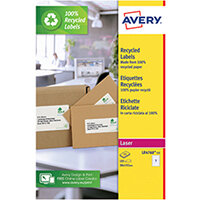 Avery Recycled Ring Binder Labels 7 Per Sheet White Pack of 105 LR4760-15