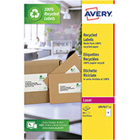 Avery Recycled Lever Arch Labels 4 Per Sheet White Pack of 60 LR4761-15