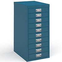 Bisley Multidrawer With 10 Drawers - Blue