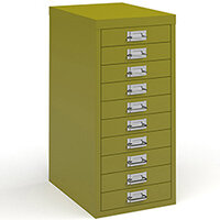 Bisley Multidrawer With 10 Drawers - Green