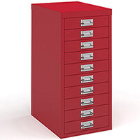 Bisley Multidrawer With 10 Drawers - Red