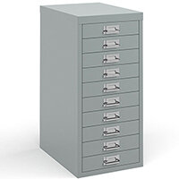 Bisley Multidrawer With 10 Drawers - Silver