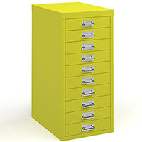 Bisley Multidrawer With 10 Drawers - Yellow