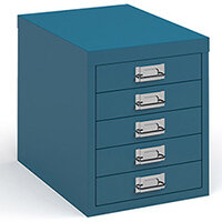 Bisley multi drawers with 5 drawers - blue