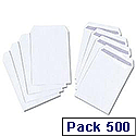 C5 White Envelopes 90gsm Pocket Press Seal Pack 500 5 Star