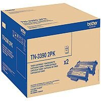 Brother TN-3390 Black Super High Yield Laser Twin Pack Toner Cartridges