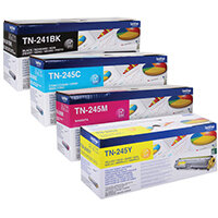 Brother TN245 Toner Cartridge Bundle Cyan/Magenta/Yellow/Black Pack of 4 BA810615