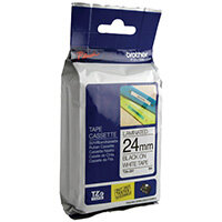 Brother P-Touch 24mm Black on White TZE251 Labelling Tape