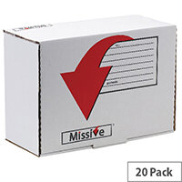 Missive Value Accessory Mailing Boxes 195x275x107mm Pack of 20