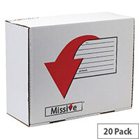 Missive Value Large Mailing Boxes 375x475x197mm Pack of 20