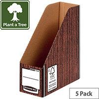 Bankers Box Premium Magazine File-Woodgrain Pack of 5 723303