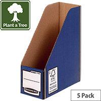Bankers Box Premium Magazine File Blue Pack of 5 722907
