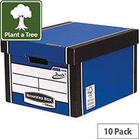 Fellowes Bankers Box Premium 725 Classic Archive Storage Box Blue  Pack of 10