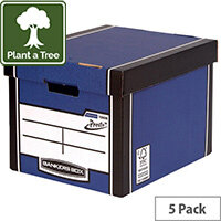 Bankers Box Premium Tall Box Blue Pack of 5 7260618