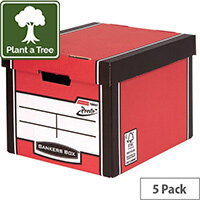 Bankers Box Premium Tall Box Red Pack of 5 7260706