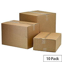 Classic Double Wall Packing Cardboard Boxes 334x225x232mm (Pack of 10)