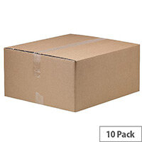 Classic Double Wall Packing Cardboard Boxes 499x443x222mm (Pack of 10) Ref 7276901