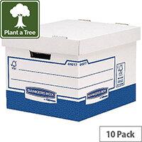 Fellowes Basics Standard Heavy Duty Storage Box W333 x D380 x H285 mm Pack of 10 BB72105