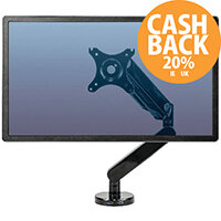 """Fellowes Platinum Series Single Monitor Arm 8043301 VESA Mount Compatible for up to 30"""" Screen"""