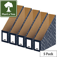 Bankers Box Decor Magazine File Grey Pack of 5 4483501