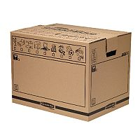 Bankers Box SmoothMove Trunk Removal Packing Cardboard Box Brown Pack of 10 (3 For The Price Of 2) BB810480