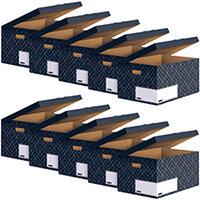 Bankers Box Flip Top Box Grey Pack of 5 Buy 1 Get 1 Free 4483601