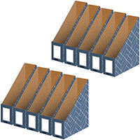 Bankers Box Magazine File Blue Pack of 5 Buy 1 Get 1 Free 4484001