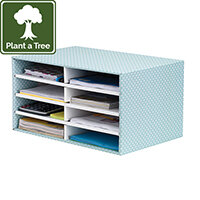 Fellowes Bankers Box Desktop Sorter Green and White Pack 1 4472601