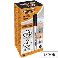 Bic Marking PRO Permanent Marker Black Pack of 12 964800