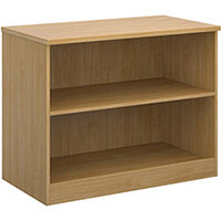 Deluxe bookcase 800mm high with 1 shelf - oak