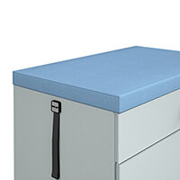 Steel caddy upholstered 50mm seat pad kit with magnetic strips