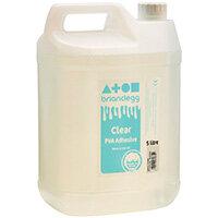 Brian Clegg Clear PVA Adhesive 5 Litre GL5000C