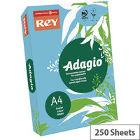 Adagio Bright Blue A4 Card Paper 160gsm Pack of 250