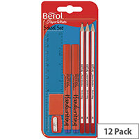 Berol School Set Pack of 12 S0924570