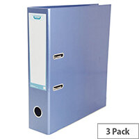 ELBA Classy Lever Arch A4 Met Blue Pack of 3 BX810423