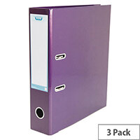 ELBA Classy Lever Arch A4 Met Purple Pack of 3 BX810424