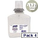 Purell Hygienic Hand Rub Gel Refill for TFX Dispenser 1200ml Pack 4