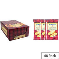 McVities All Butter Shortbread Biscuits Individually Wrapped in Twin Pack Snack Size (Pack 48)