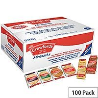 Crawfords Individually Packaged Assorted Mini Biscuit Packs 6 Varieties Pack 100