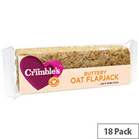 Mrs Crimbles Gluten Free Buttery Oat Flapjack 65g Pack of 18 A08027