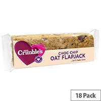 Mrs Crimbles Gluten Free Choc Chip Oat Flapjack 65g Pack of 18 A08028