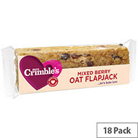 Mrs Crimbles Gluten Free Mixed Berry Oat Flapjack 65g Pack of 18 A08029