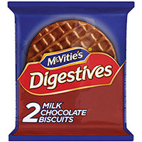 McVities Milk Chocolate Digestive Biscuit Twin Pack Pack of 24 32404