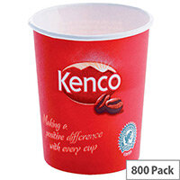 Kenco 7oz/200ml Single Wall Disposable Paper Cups for Hot Drinks Red (Pack of 800)